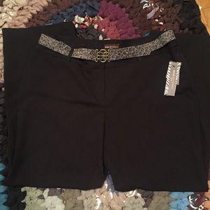 DANA BUCHMAN Black Wide Leg Work Trousers NWT